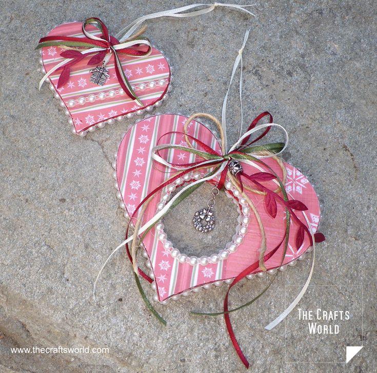Christmas decoration – Styrofoam hearts