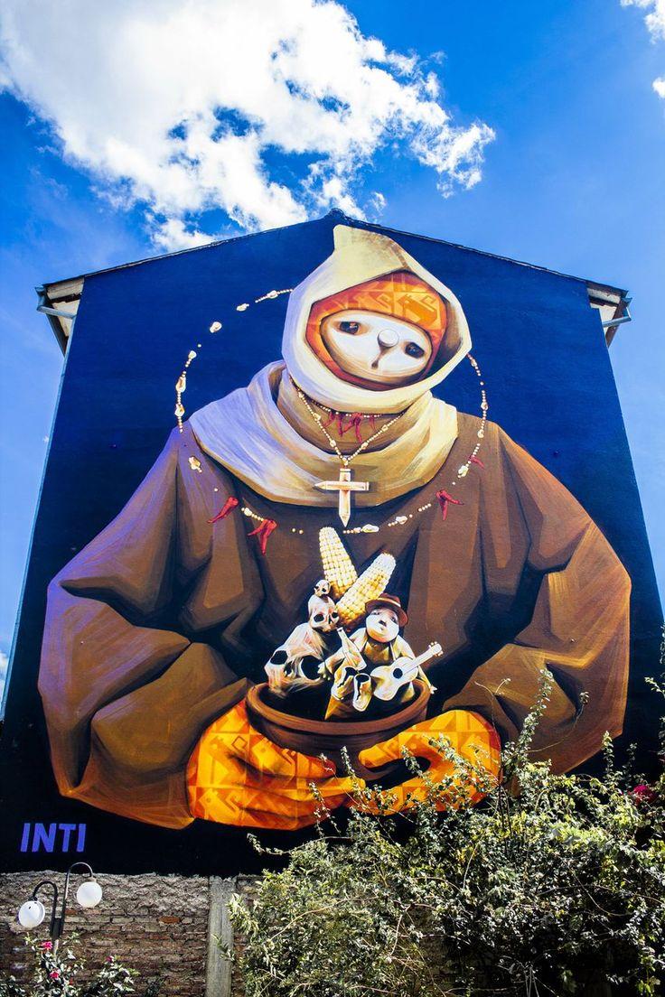 Street art by Inti Cochabamba, Bolivia http://marcoslocaladventures.com/