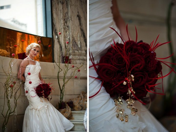 Love this Bouquet.......Classic Apple Red Wedding Inspiration