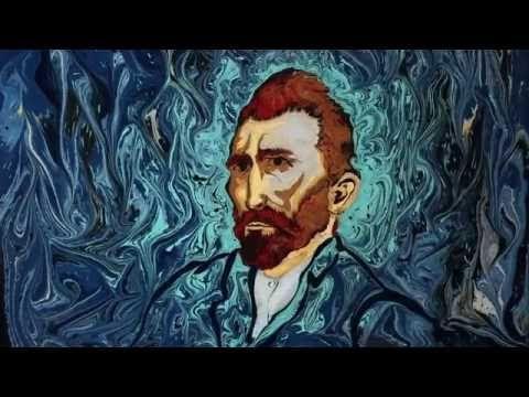 tribute to Van Gogh with Ebru Art ( short ) - YouTube