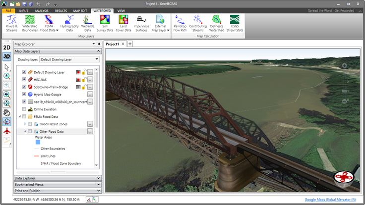 HEC-RAS 3D model of the Sciotoville Bridge. The Sciotoville Bridge is a steel continuous truss bridge carrying tracks of CSX Transportation across the Ohio River between Siloam - a junction located north of Limeville,  Kentucky and east of South Shore, Kentucky - and Sciotoville, Ohio in the United States. https://en.wikipedia.org/wiki/Sciotoville_Bridge