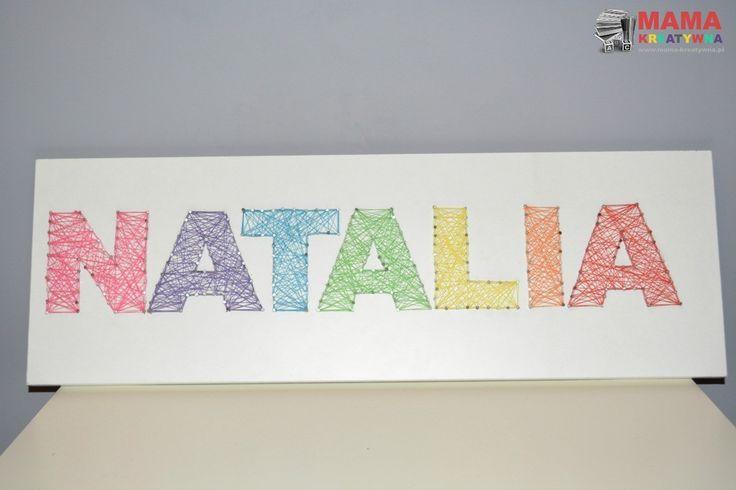 imię dziecka literki do pokoju DIY zrób to sam, nici, z drewna, dekoracja, pokój dziecka, ozdoba, na ścianę, dziecięce