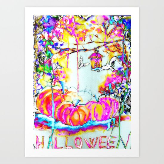 Halloween Night (fairy illustration) Art Print