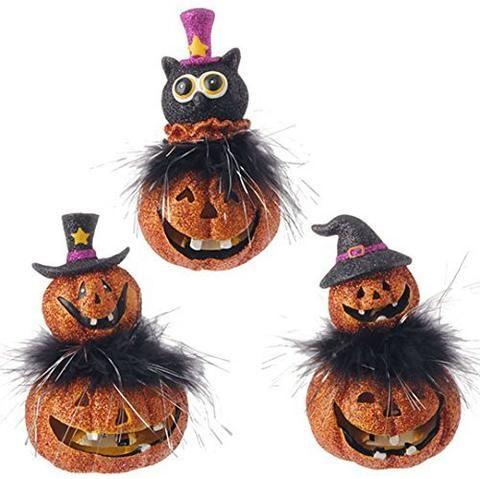 raz imports halloween 5 lighted stacked jack olanterns
