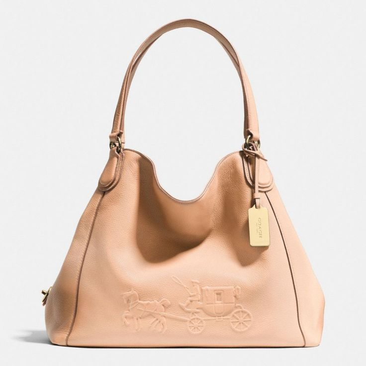 Christmas 2014 from the hubs! The Embossed Horse And Carriage Edie Shoulder Bag In Pebble Leather from Coach