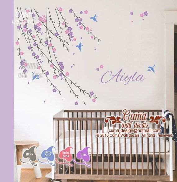 Best Cherry Blossom Wall Decal Nursery Design Images On - Wall decals girl nursery