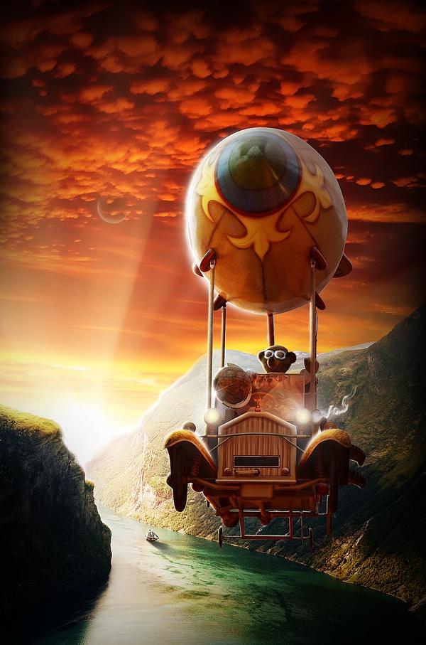 "Worth1000 contest-winning composite: ""Skycar"" - by Louis Stilling"