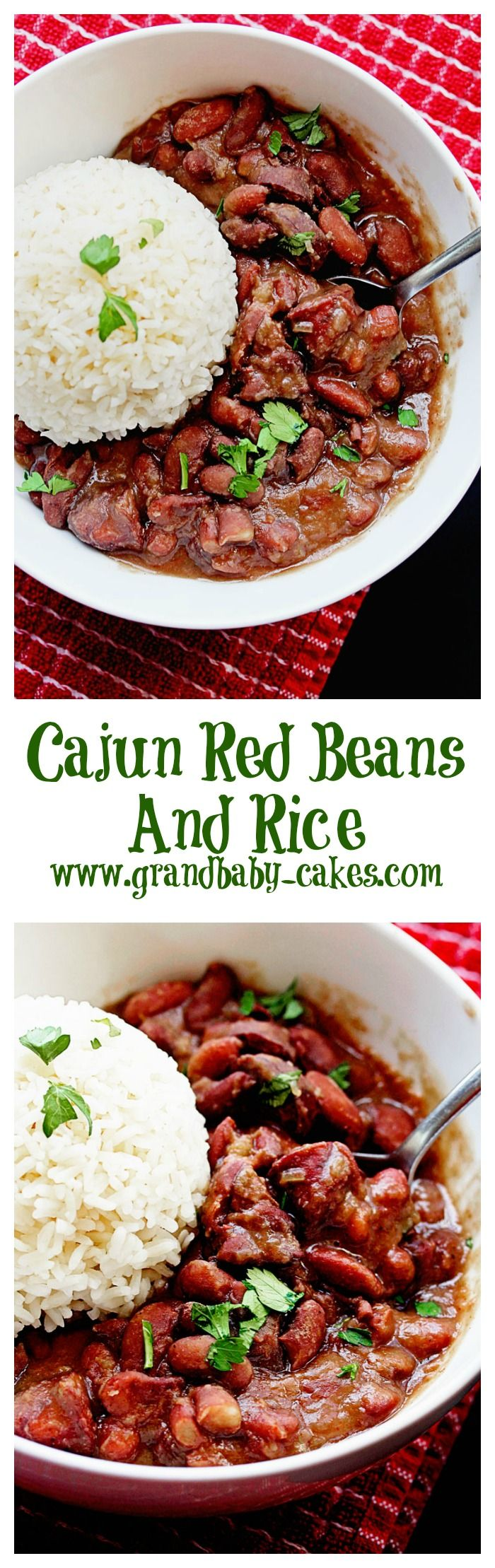 Cajun Red Beans and Rice ~ http://www.grandbaby-cakes.com