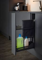 Snello Libell 150mm Base Unit Pull-Out With Towel Rail | Supplier - LDL Kitchen and Furniture Fittings & Accessories
