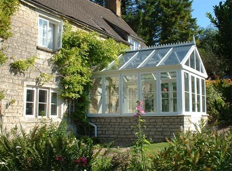 glass conservatory (greenhouse) ♥ want to add to the garage for a studio, sigh.