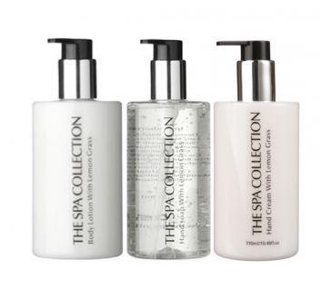 Giftset pompflacons Hans Soap, Body Lotion & Hand Cream