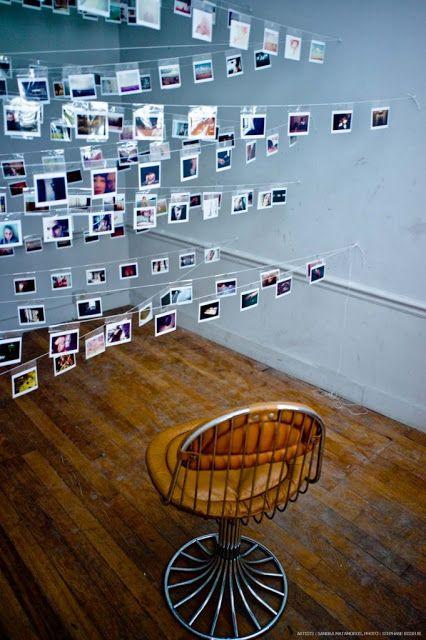 Suspended photoboard. Artist Sandra Matamoros