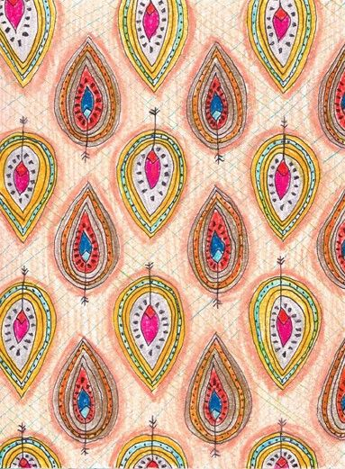 indian pattern records by Cayla Skillin-Brauchle