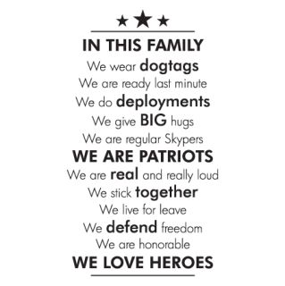 Military In This Family Wall Quotes™ Decal | WallQuotes.com/  could do one for RCMP
