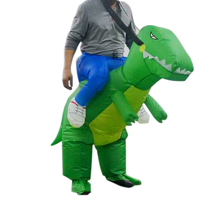 Adult Inflatable Dinosaur Fancy Dress Funny Party Costume Suit