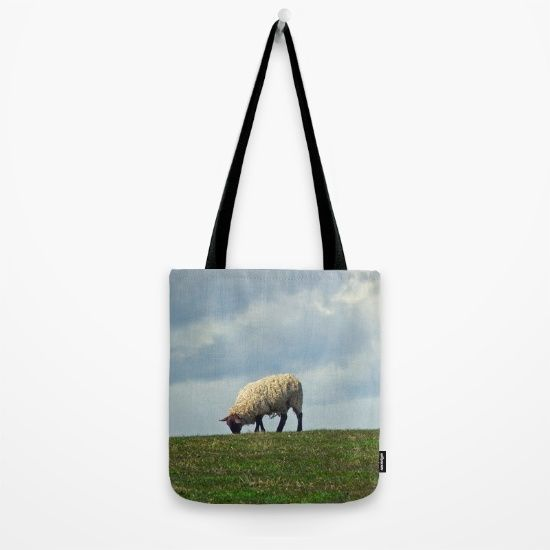 Sheep on the Hill Tote Bag by Vicki Field