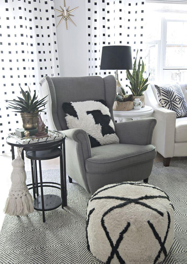 cozy living room corner- neutral eclectic boho fall tour - Cuckoo4Design
