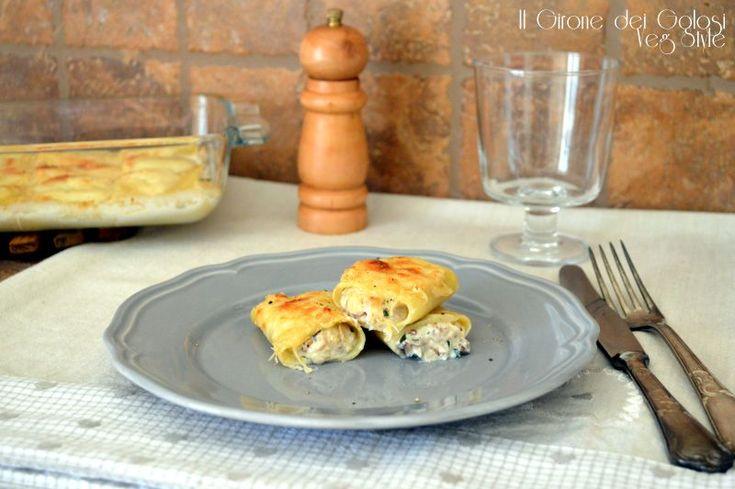 I cannoli di paccheri ai funghi sono un primo piatto facile e gustoso, ideale per gli ospiti dell'ultimo minuto o per il pranzo della domenica