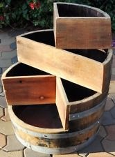 Idea for cuts on whiskey barrel for tiered planting...(ebay picture**)