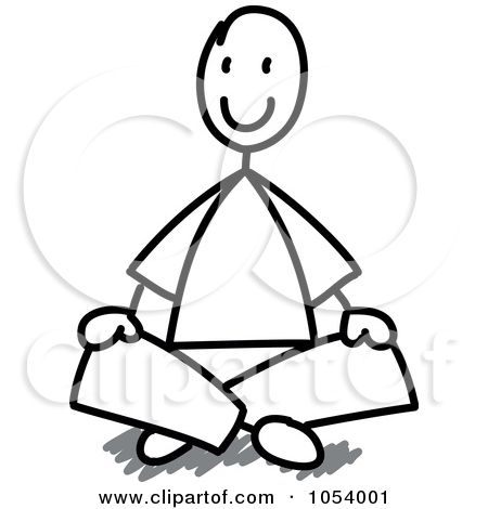 Royalty Free Vector Clip Art Illustration Of A Stick Man Sitting By