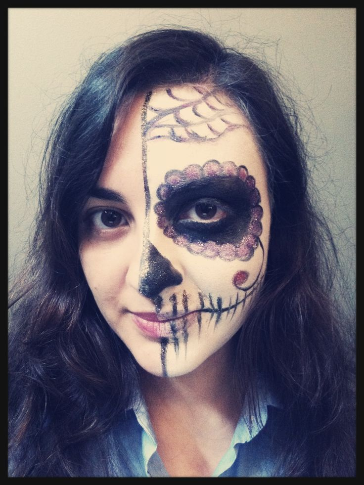 dia de los muertos done with airbrush makeup done at pas de deux - Where Can I Get Halloween Makeup Done