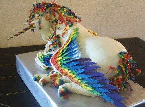 Flying unicorn cake is fly. - Imgur