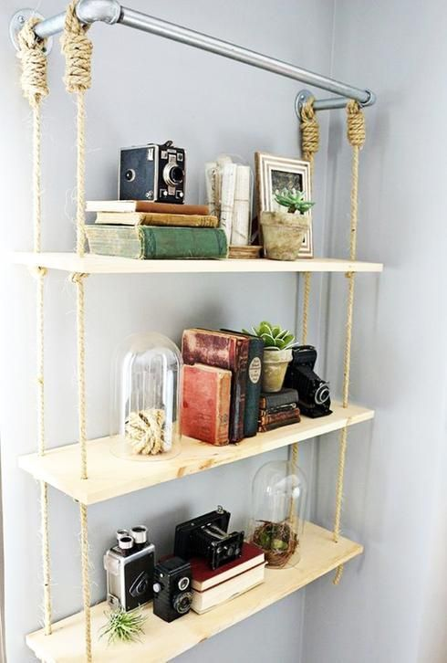 25 best ideas about metal shelves on pinterest metal shelving industrial - Fabriquer une etagere ...