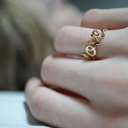 """love"" word ring"