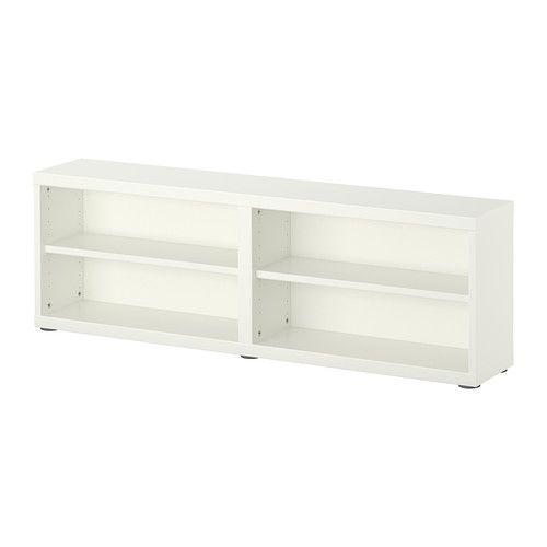 IKEA - BESTÅ, Scaffale/elemento top, bianco, , Mensole e scaffali poco profondi ti permettono di usare le pareti della tua casa in modo funzionale. Sono molto capienti pur occupando poco spazio nella stanza.I ripiani sono perfetti per organizzare DVD, libri e altri piccoli oggetti.Si può appendere alla parete o appoggiare sul pavimento.Piedini regolabili, per una stabilità ottimale anche sulle superfici irregolari.Grazie ai ripiani regolabili puoi personalizzare la tua soluzione in base alle…