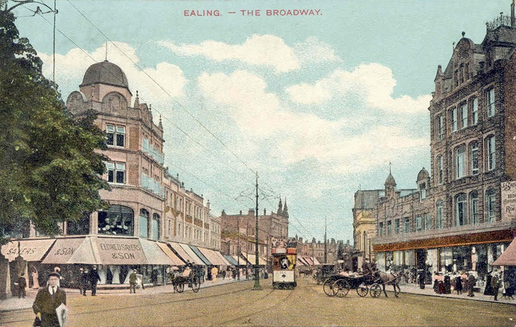 The building at the left front was Bentall's of Ealing when I lived in Ealing.  John worked in the carpet and furniture departments before he was an insurance agent, before I met him.