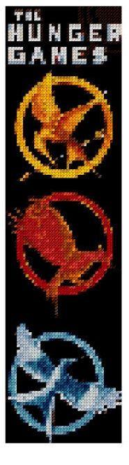 Hunger Games Bookmark cross stitch PDF pattern chart: