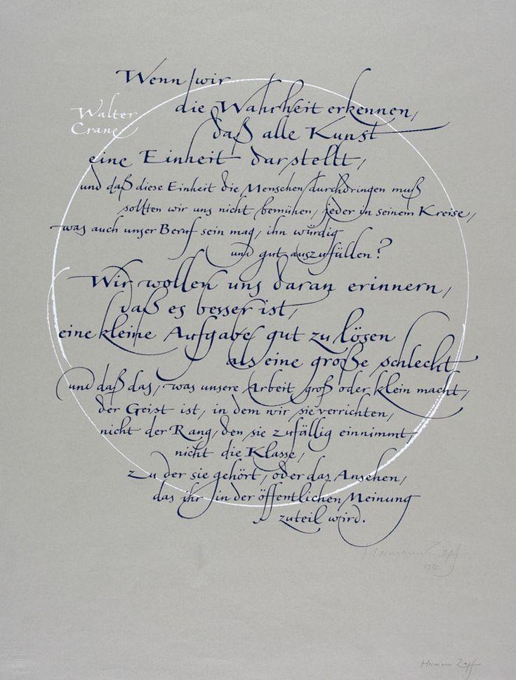 hermann zapf handwriting analysis