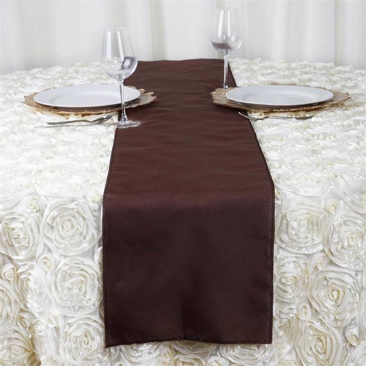 Chocolate Polyester Table Runner | Plan as many events as you want and invite as many guest as you desire without even worrying about the expenses and your budget. With our sturdy and economical polyester table runners, you can now transform any dining experience into a magnificent feast with an upscale feel and an elite look without breaking the banks. Get inspired by this premium quality polyester table runner that opens the gates of creativity and ingenuity. With such a high standard…