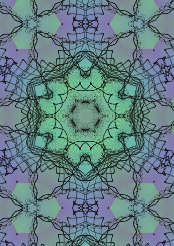 Kaleidoscope in greens and move