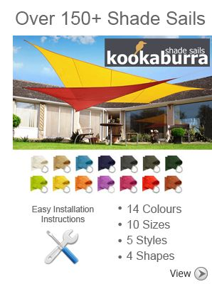 Kookaburra 3.6m Square Yellow Waterproof Woven Shade Sail £59.99