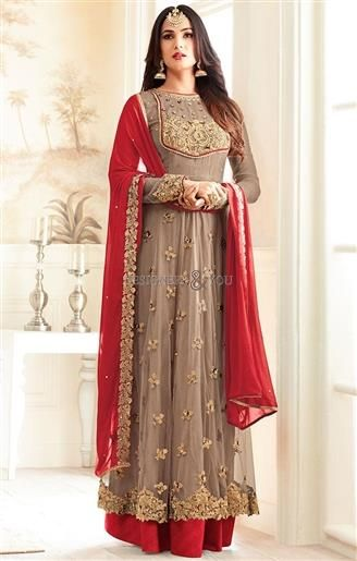 Shop This Adorable Boutique Style Women's Front Cut Brown Dress. This Party Wear Suit Consist Embroidery, Stones, Full Sleeves, Boat Neck & Embroidered Border. http://www.designersandyou.com/dresses/designer-dresses #DesignersAndYou #Dress #Dresses #DesignerDresses #DesignerDress #DesignerDressesOnline #DesignerDressesDesigns #DesignerDressesPatterns #DesignerDressOnline #DesignerDressDesigns #DesignerDressPatterns #DesignerDressDesign #DesignerDressPattern #DesignerDressesDesign…