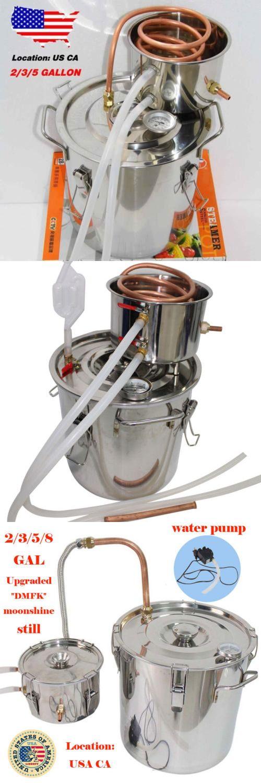 Beer and Wine Making 38172: 2 3 5 8 Gal Copper Alcohol Moonshine Ethanol Still Spirit Boiler Water Distiller -> BUY IT NOW ONLY: $89.99 on eBay!