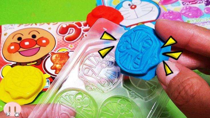 メルちゃん おもちゃ アニメ❤おかあさんといっしょ アンパンマングミ&ドラえもんグミを使って ねんどでハンコ遊び❤ねんど 色遊び ハンコ 工作 幼児