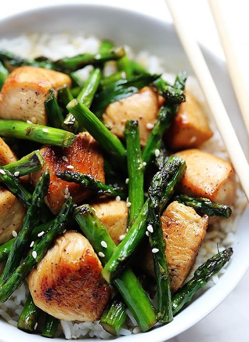 Special Stir Fried Chicken and Asparagus, yummy!
