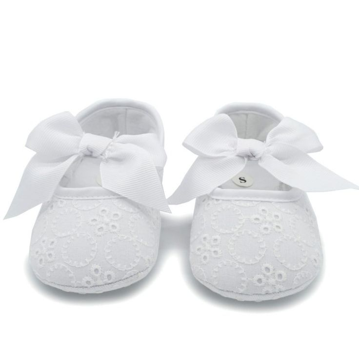 Toddler Baby Girl Princess Srewalker Shoes Pure White Soft Sole Shoes Infant Leisure First Walkers S01