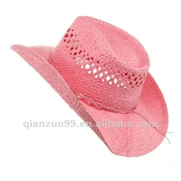 Wholesale Girls Pink Straw Mexican Cowboy Hat ($2) ❤ liked on Polyvore