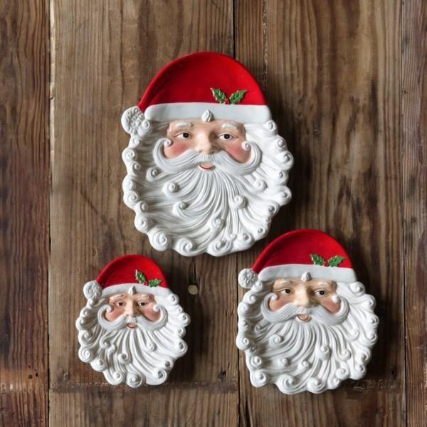 Cookies for Santa Stoneware Plate Red Jolly Santa