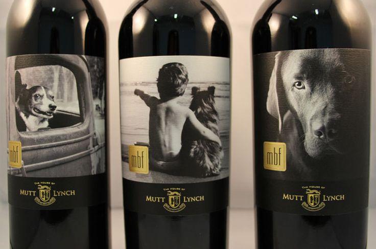 Etiquetas de botellas de vino con el perro como protagonista wine vinos maximum vinho
