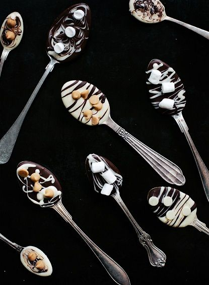 Festive hot chocolate spoons
