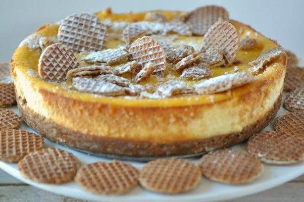 Stroopwafel cheesecake: een echt lekkere verjaardagstaart! En heel makkelijk te maken!