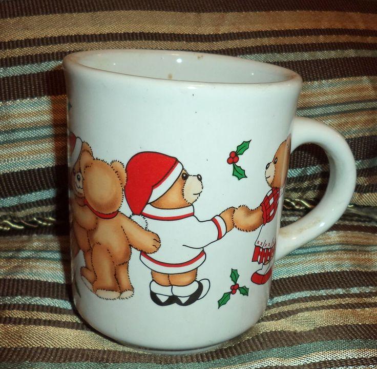 Porcelain Christmas Bear Coffee Mug Lozapenco Chile