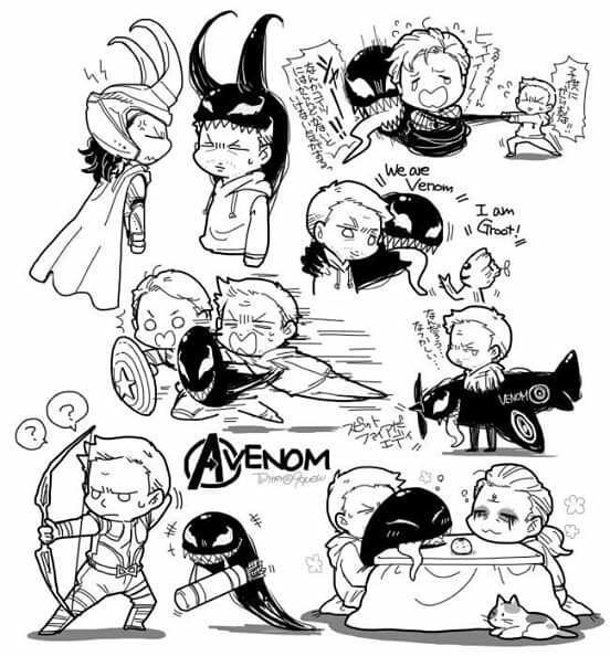 Imágenes SymBrock | marvel | Marvel venom, Venom comics, Marvel