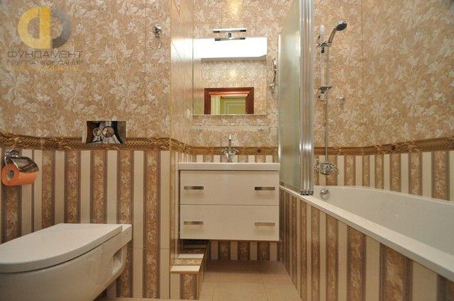 Дизайн интерьера квартиры в классическом стиле. Фото ванной