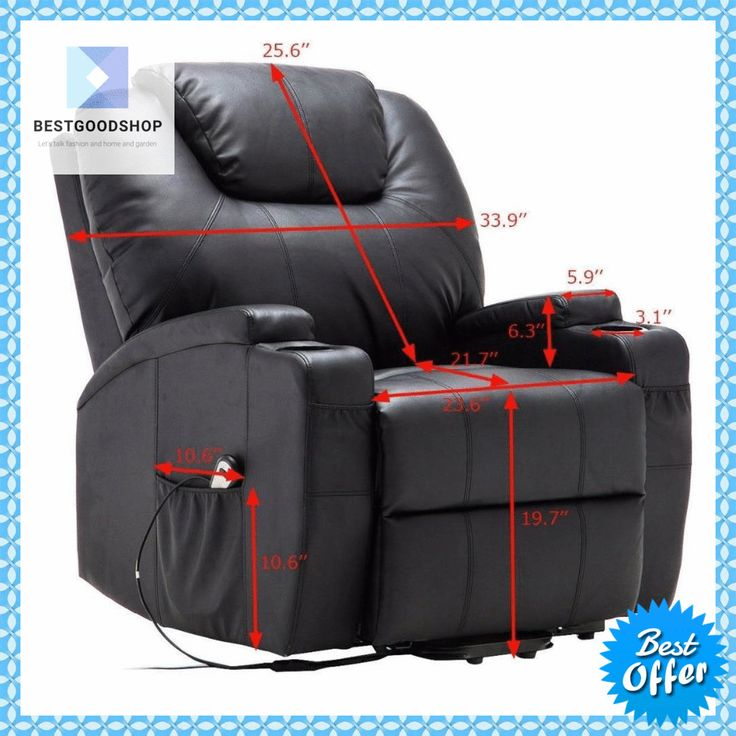 Electric lift power recliner chair with heated massage and