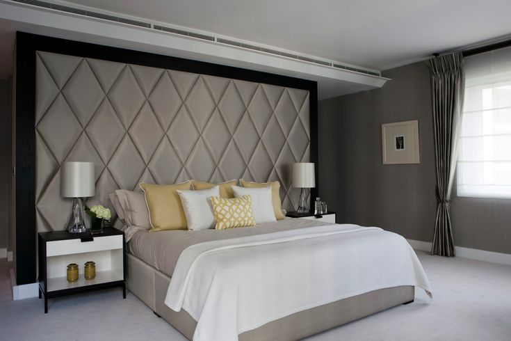 Knightsbridge Apartment transformed from basic developer finish to a luxury chic international apartment - bedroom interiors ©Taylor Howes Designs